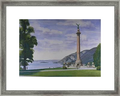 Battle Monument  Framed Print by Glen Heberling