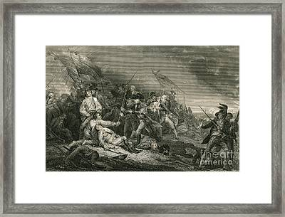 Battle Of Bunker Hill Framed Print by Photo Researchers