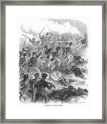 Battle Of Cerro Gordo Framed Print by Granger