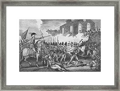 Battle Of Concord, 1775 Framed Print