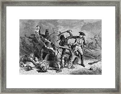 Battle Of Fort William Henry, 1757 Framed Print by Photo Researchers