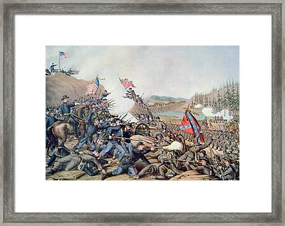 Battle Of Franklin November 30th 1864 Framed Print by American School