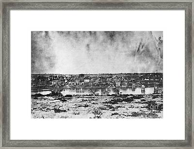 Battle Of Fredericksburg Framed Print by Photo Researchers