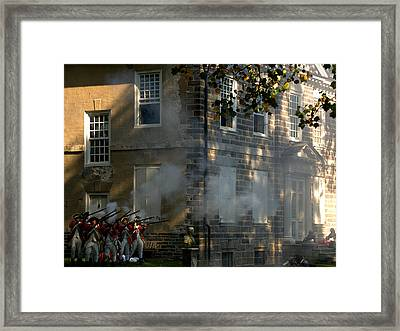 Framed Print featuring the photograph Battle Of Germantown by Steven Richman