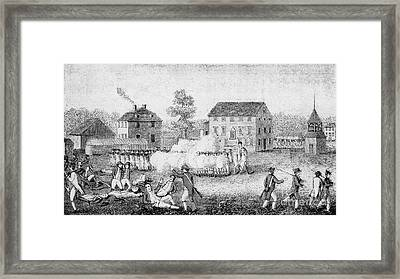 Battle Of Lexington, 1775 Framed Print by Photo Researchers