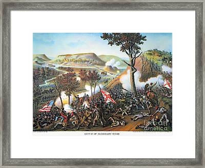 Battle Of Missionary Ridge Framed Print by Granger
