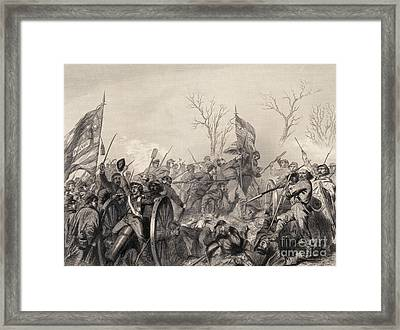 Battle Of Murfreesboro, 1863 Framed Print by Photo Researchers