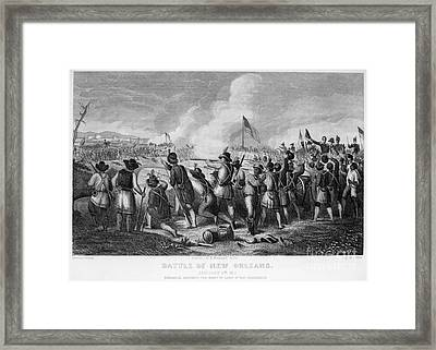 Battle Of New Orleans Framed Print by Granger