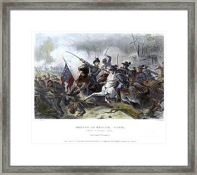 Battle Of Shiloh, 1862 Framed Print by Granger