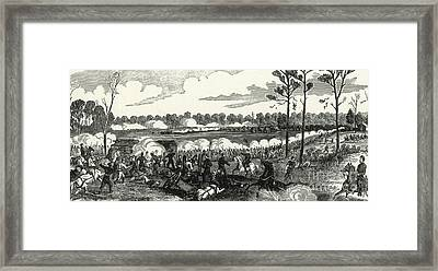 Battle Of Shiloh, 1862 Framed Print by Photo Researchers