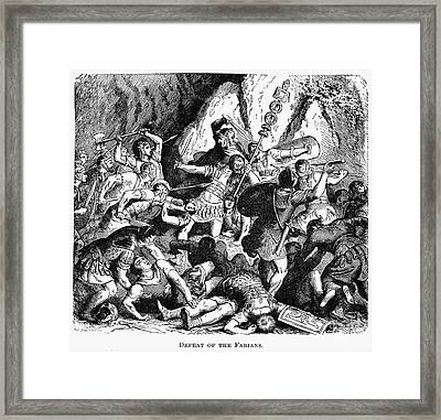 Battle Of The Cremera Framed Print by Granger