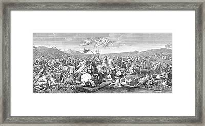 Battle Of The Milvian Bridge, 312 Ad Framed Print by Photo Researchers