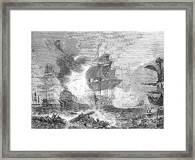 Battle Of The Nile, 1798 Framed Print