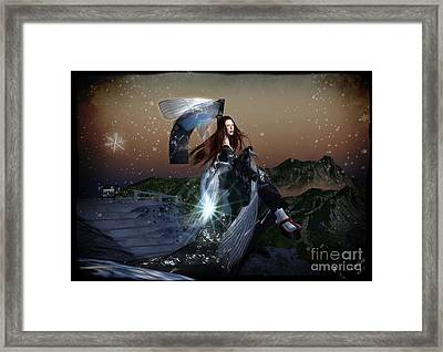 Battle Of The Snowflake Framed Print