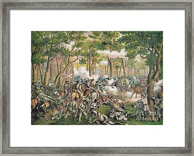 Battle Of The Wilderness May 1864 Framed Print by American School