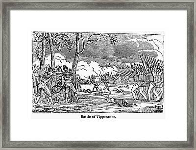 Battle Of Tippecanoe Framed Print by Granger