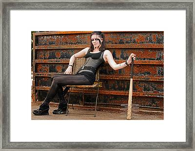 Battle Ready Woman Framed Print by Jim Boardman