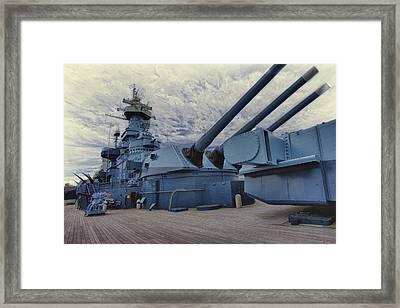 Battleship Framed Print by Bill Linhares