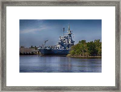 Battleship Nc Framed Print by Christina Durity