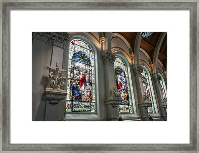 Bavarian Cathedral Glass - Spokane Washington Framed Print by Daniel Hagerman
