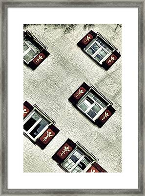 Bavarian Window Shutters Framed Print