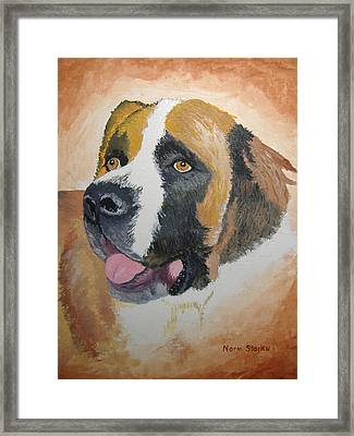 Framed Print featuring the painting Baxter by Norm Starks