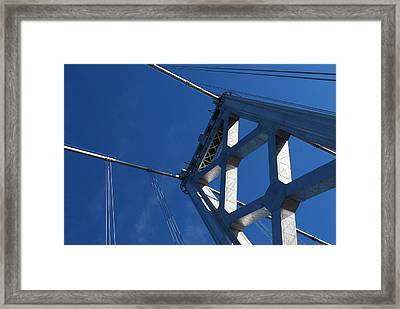 Bay Bridge And Blue Sky, San Francisco Framed Print by Jamie Jennings www.JJphotos.ca