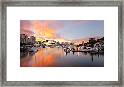 Bay Of Fire Framed Print