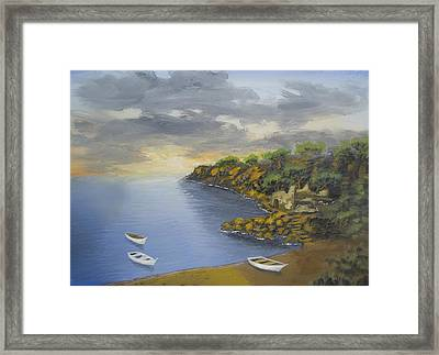 Bay Of Peace Framed Print by Larry Cirigliano