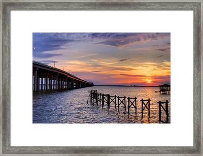 Bay St. Louis Sunset Framed Print by Brian Wright