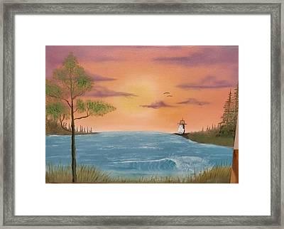 Bay Sunset Framed Print by Nick Ambler