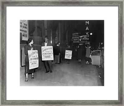 Bayard Rustin, Mrs. Bowen Jackson Framed Print