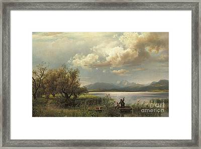 Bayern Landscape Framed Print by Augustus Wilhelm Leu