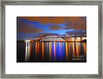 Bayonne Bridge Framed Print by Paul Ward