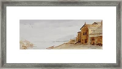 Bayside Village Framed Print