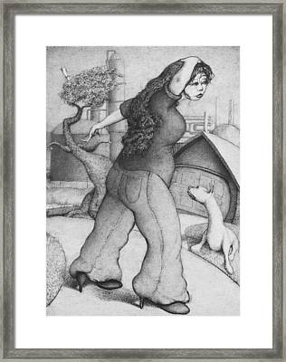 Baytown Girl Framed Print by Louis Gleason