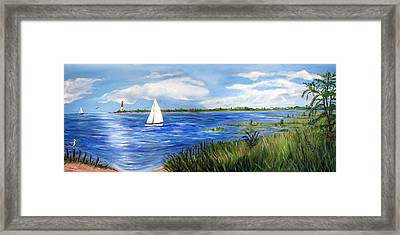 Bayville Marsh Framed Print