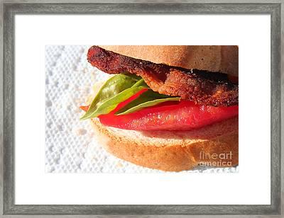 Bbt Bacon Basil Tomato Framed Print