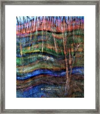 Bc Coast Framed Print by AnneLise McCoy
