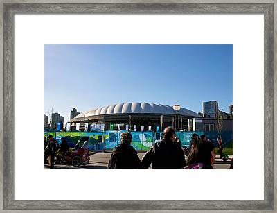 Framed Print featuring the photograph Bc Place by JM Photography