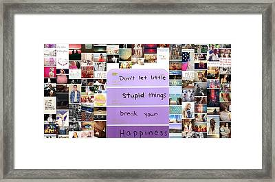 Be Happly Framed Print by Holley Jacobs