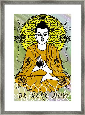 Be Here Now Framed Print by Gia Simone
