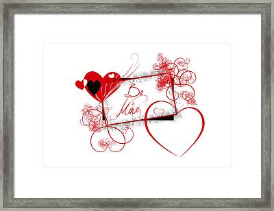Be Mine Framed Print by Darren Fisher
