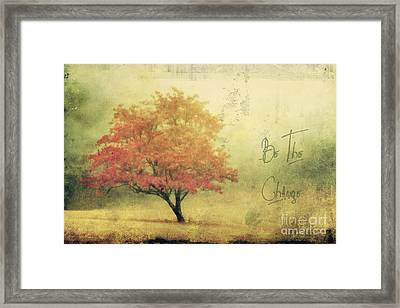 Be The Change Framed Print by Darren Fisher