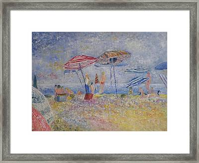 Beach Afternoon Framed Print by B Russo