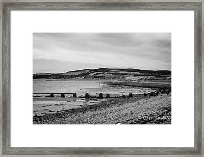 beach and shoreline between ardersier and fort george highland Scotland Framed Print