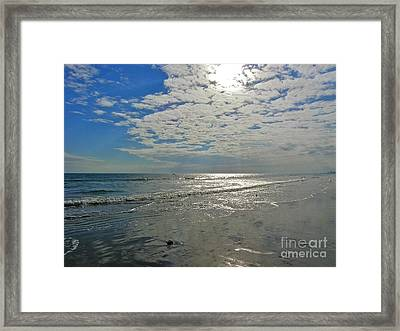 Framed Print featuring the photograph Beach At Dawn by Eve Spring