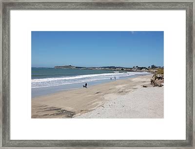 Beach At El Granada Framed Print by Carolyn Donnell