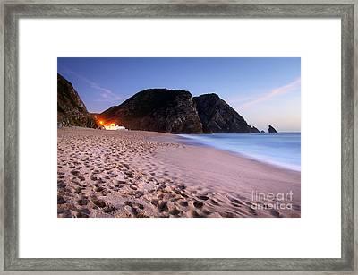 Beach At Evening Framed Print by Carlos Caetano