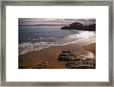Beach At Monteray Bay Framed Print